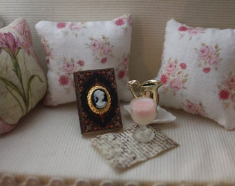 Dollhouse miniature  victorian cameo book