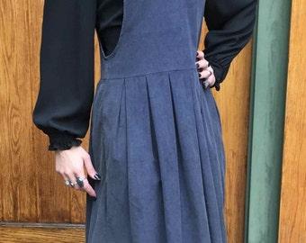 Blue Corduroy Pinafore Jumper / Dress