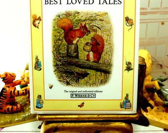 Beatrix Potter Best Loved Tales Squirrel Nutkin, Samuel Whiskers, Miss Moppet and Fierce Bad Rabbit Vintage Book
