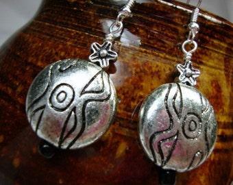 Aztec Silver tone Earrings