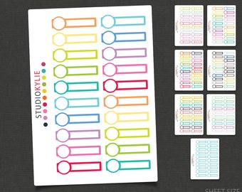 Appointment Reminders - Planner Stickers -Repositionable Matte Vinyl to suit all planners
