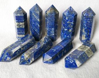 Extra Large Best Lapis Lazuli Tower/Lapis Lazuli Crystal Point/(Size:30mm,40mm,50mm,60mm,70mm,80mm,90mm,100mm,150mm,200mm,300mm,Custom Size)