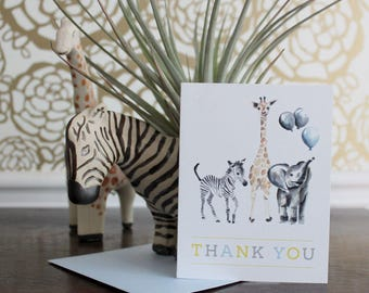 Digital Safari Animals Thank You Cards