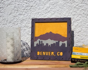 Denver Art - Denver Wall Hanging - Denver Decor - Colorado Home Decor -  Colorado Decor - Denver Decorating Idea