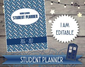 Doctor Who Student Planner, Doctor Who, Tardis, Daily Planner, Homeschool, Dr Who, Student Planner,2018, Planner, Agenda, 2018 Planner