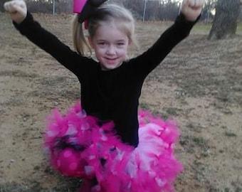 reversible tutu skirt hot pink and black