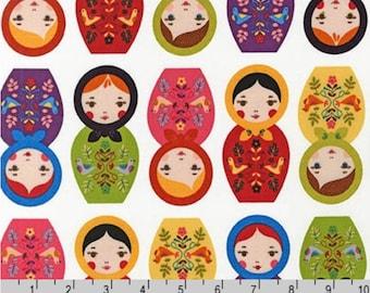 Little Kukla - Matryoshka Dolls Bright by Suzy Ultman from Robert Kaufman
