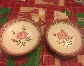 Handpainted Stangl Colonial Rose Small Serving Bowls