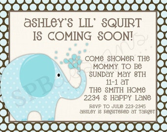 Baby Shower invitation -- Lil' Squirt