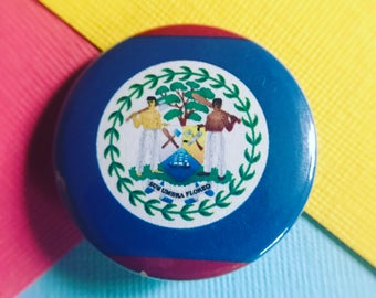 Belize Flag Pinback Button, Belize Flag Magnet, Belize Flag Keychain,Belize Flag Backpack Pin, Belize Flag Badge, Belize Pins, Travel Pins