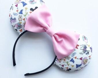 Disney Icon Ears, Theme Park Mouse Ears, Happiest Place on Earth Inspired Ears, Theme Park ears, Custom Mouse Ears, Minnie Ears, Disney Ears