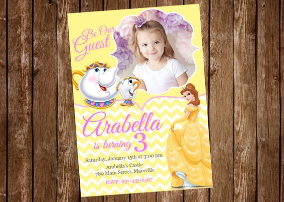 Beauty and the beast princess belle birthday party like this item filmwisefo Images