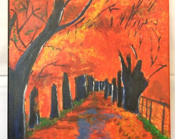 Tree alley in Autumn