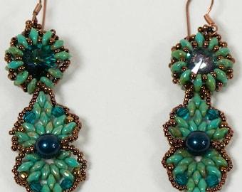 Tutorial for Tahitian Beaded Pearl Super Duo Earrings