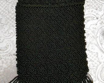 1920's Black Beaded Pocket