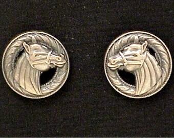 "Horse Head Conchos 1"" Antique Copper"