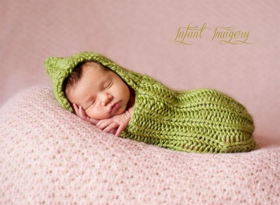 Knitting Pattern Baby Cocoon Pattern Newborn Photo Prop