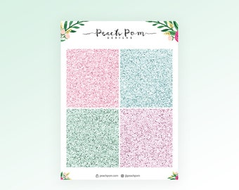 Blooming - Glitter Header Stickers