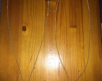 monogrammed silver and gold circle chain Necklaces