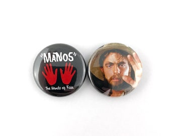 "Manos: The Hands of Fate - 1"" Button Pin Set"