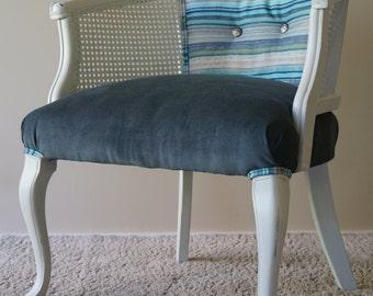 Vintage Cane Barrel Chair - RESERVED