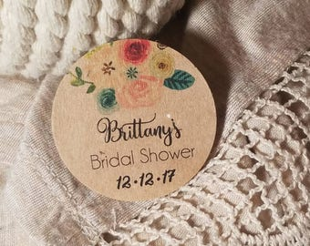 Personalized Custom Circle Tags - Round Tags  - Wedding Favor Tags Bridal Shower Tags Birthday - Wedding Shower tag