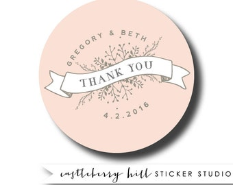 Wedding thank you stickers, Wedding Stickers Personalized, Wedding Favor Labels, Thank You Stickers, welcome bag stickers, welcome bag label