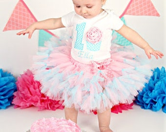 3D Cupcake 1st Birthday Tutu Outfit