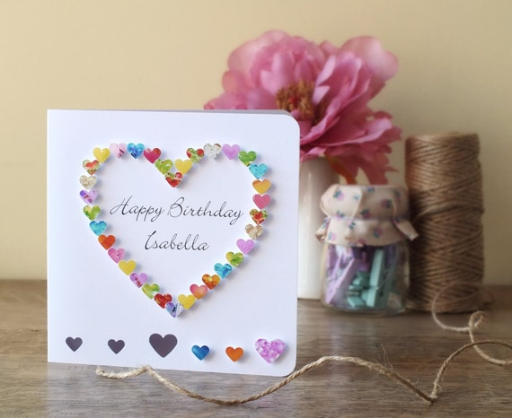 Birthday Cards For Daddy From Daughter ~ Handmade personalised birthday card personalized happy