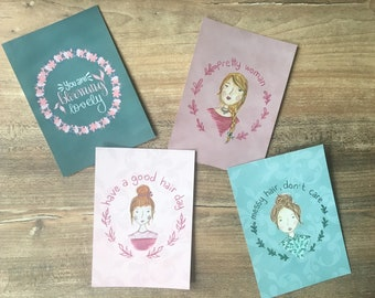 Postcards Set Women