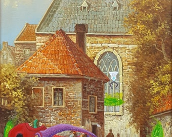 Rick and Morty Repurposed Thrift Shop Painting ART LUIS VELA *Print #3*