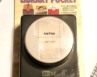 Library Pocket Paper Punch by McGill - New & Hard To Find