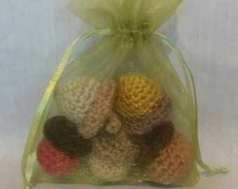 Little Bag of Success - Crochet Acorns - Acorn Gifts - Party Favours - Wedding Favours - Woodland Gifts - Handmade Acorns - Perseverance