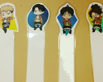 Attack on Titan chibi bookmarks