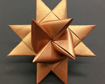 COPPER LARGE German paper star ornament Moravian star Froebelstern