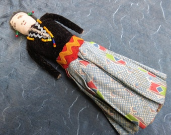 Hand Made Ethnic Cloth Doll - Charming One of a Kind Toy Doll
