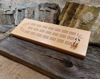 Beech Cribbage Board