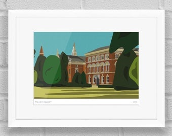 Dulwich College, London - Limited Edition Giclée Art Print / Poster