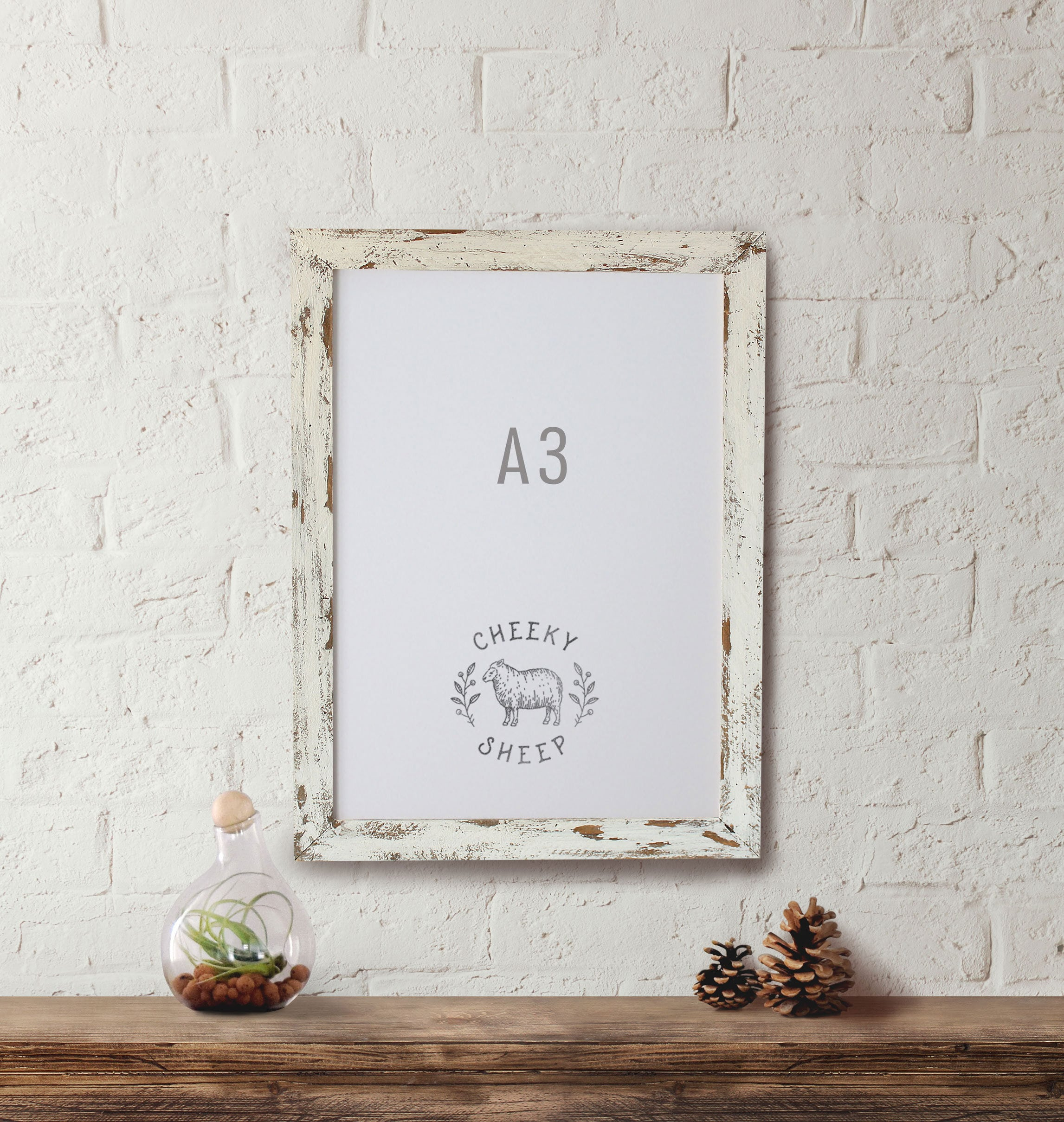 A3 Chippy Paint Picture Frame 29.7 cm x 42.0 cm Frame Distressed ...