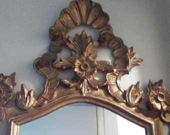 Euromarchi Italy Gold Ornate Mirror Vintage Mirror Hollywood Regency Mirror EuroMarchi