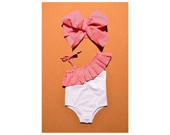 Girls swim wear   Ruffle swim suit   Personalized swim   Tide swimsuit   Striped swimsuit   White infant swimwear   Pool vacation bikini