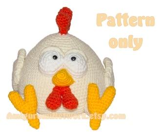 CROCHET PATTERN - Amigurumi Chicken. PDF