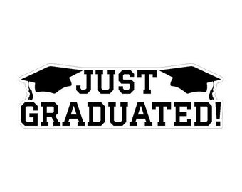 Just Graduated Static Cling Window Removable and Reusable Graduation Cling Car Decoration