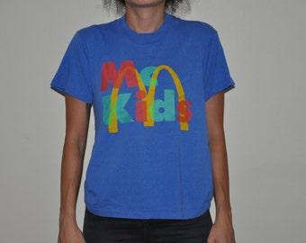 McKids Mcdonalds Clubkid Small Youth T-shirt 90s