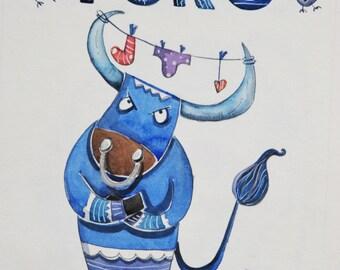 illustrazione segno zodiaco TORO
