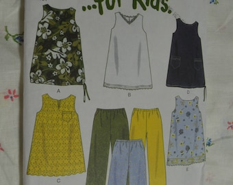 New Look 6956 Girls Dress and Pants Sewing Pattern - UNCUT  Sizes 3 - 8