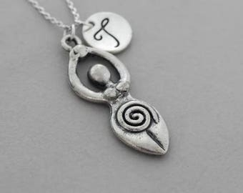 Goddess Fertility necklace - goddess necklace pendant - Silver Necklace - sterling silver necklace - fertility necklace