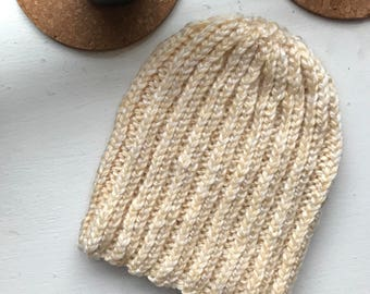 Simple Ribbed Knit Beanie Pattern | Knitting Pattern | Toddler and Adult Size