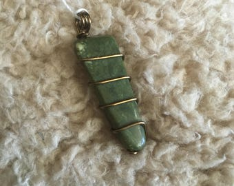 Rainforest Jasper in Brass - Medium