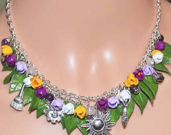 Life Springs Forth Crocus Pagan Necklace - Pagan Jewellery, Wicca, Imbolc, Goddess, Spring